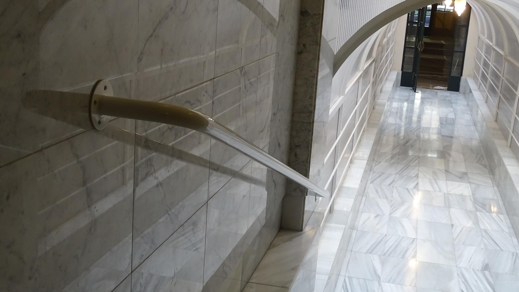 Suelo de mármol abrillantado